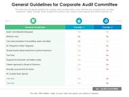 General Guidelines For Corporate Audit Committee