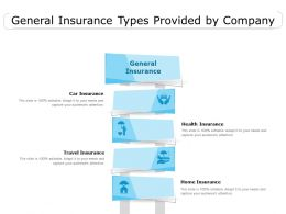 General Insurance Types Provided By Company