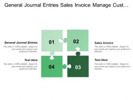 General Journal Entries Sales Invoice Manage Customer Services