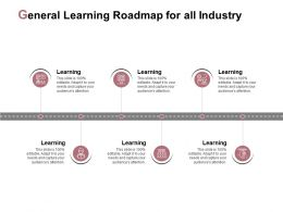 General Learning Roadmap For All Industry Agenda Strategy Ppt Powerpoint Presentation File
