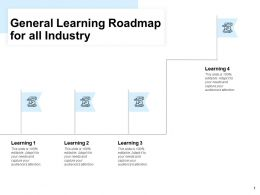 General Learning Roadmap For All Industry Process Ppt Powerpoint Slides