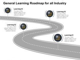 General Learning Roadmap For All Industry Roadmap Ppt Powerpoint Presentation Slides