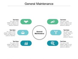 General Maintenance Ppt Powerpoint Presentation Model Background Designs Cpb