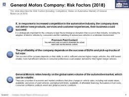General Motors Company Risk Factors 2018