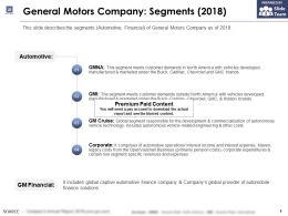 General Motors Company Segments 2018
