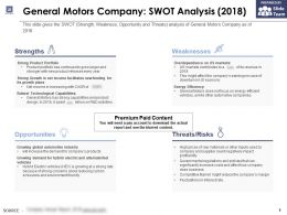 General Motors Company Swot Analysis 2018