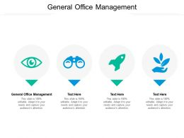 General Office Management Ppt Powerpoint Presentation Model Background Image Cpb