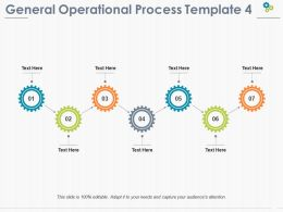 General Operational Process Ppt Pictures Summary