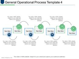 General Operational Process Template 4 Ppt Show Images