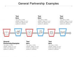 General Partnership Examples Ppt Powerpoint Presentation Model Guidelines Cpb