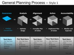 General Planning Process 1 Powerpoint Presentation Slides DB