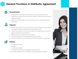 General Provisions In Distributor Agreement Ppt Slides