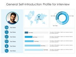 General Self Introduction Profile For Interview Infographic Template