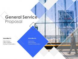 General Service Proposal Powerpoint Presentation Slides
