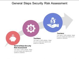 General Steps Security Risk Assessment Ppt Powerpoint Presentation Vector Cpb