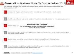 Generali Business Model To Capture Value 2018