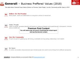 Generali Business Preffered Values 2018