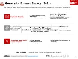 Generali Business Strategy 2021