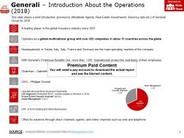 Generali Introduction About The Operations 2018