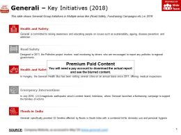 Generali Key Initiatives 2018