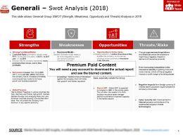 Generali Swot Analysis 2018