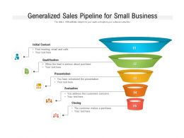 Generalized Sales Pipeline For Small Business
