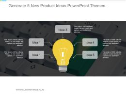 Generate 5 New Product Ideas Powerpoint Themes