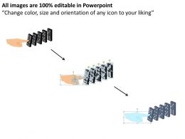 Generate A Chain Business Man Dropping Dominoes Response Powerpoint Diagram Templates Graphics 712