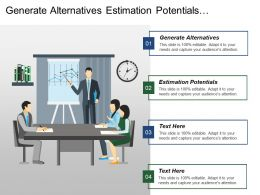 Generate Alternatives Estimation Potentials Implement Communications Programme Industrial