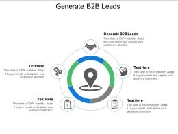 Generate B2b Leads Ppt Powerpoint Presentation Gallery Rules Cpb