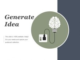 Generate Idea Powerpoint Slide Backgrounds