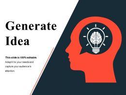 Generate Idea Ppt Deck