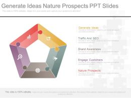 Generate Ideas Nature Prospects Ppt Slides