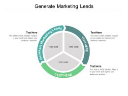 Generate Marketing Leads Ppt Powerpoint Presentation Styles Show Cpb