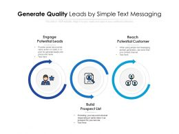 Generate Quality Leads By Simple Text Messaging