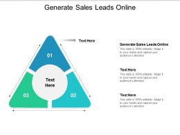 Generate Sales Leads Online Ppt Powerpoint Presentation Inspiration Professional Cpb