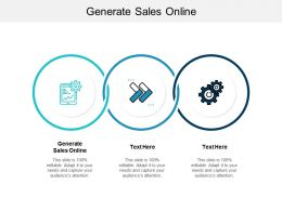 Generate Sales Online Ppt Powerpoint Presentation Icon Layouts Cpb