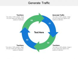 Generate Traffic Ppt Powerpoint Presentation File Guide Cpb