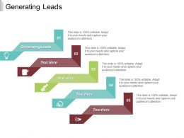 Generating Leads Ppt Powerpoint Presentation Infographic Template Deck Cpb