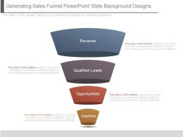 Generating Sales Funnel Powerpoint Slide Background Designs