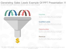 Generating Sales Leads Example Of Ppt Presentation