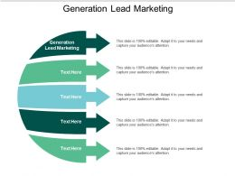 Generation Lead Marketing Ppt Powerpoint Presentation Styles Deck Cpb