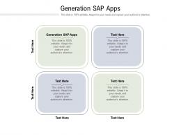 Generation Sap Apps Ppt Powerpoint Presentation Icon Clipart Images Cpb