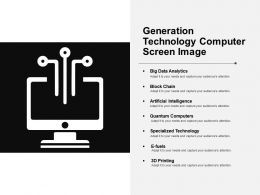 Generation Technology Computer Screen Image