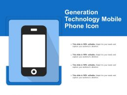 Generation Technology Mobile Phone Icon