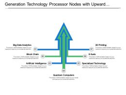Generation Technology Processor Nodes With Upward Arrow Image