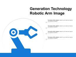 Generation Technology Robotic Arm Image