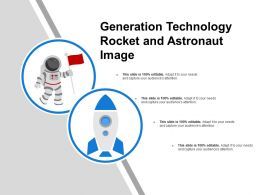 Generation Technology Rocket And Astronaut Image