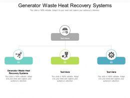 Generator Waste Heat Recovery Systems Ppt Powerpoint Presentation Portfolio Design Ideas Cpb