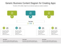 Generic Business Content Diagram For Creating Apps Infographic Template